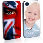 gift prints: personalised iPhone cover with memorable images of painted face and baby