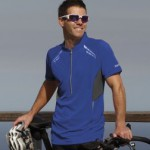 Large range of sports tops including jersey style cycling tops.