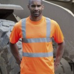 HV71 Orange Hi vis T-Shirt. Printing can also put your branding on basic safety wear.