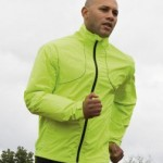 SR185 hi vis cycling jacket equally home as runners and triathlete's wind and waterproof. Perfect for Lake District activities