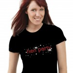 hen party T-shirt decorated with diamante