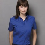 K701 Oxford blouse in royal blue