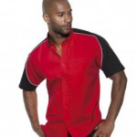 K186 Formula short sleeve racing shirt in red & black
