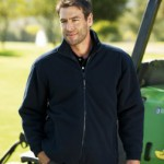 Regatta RG125 Asgard lined fleece workwear in black. Men's version