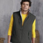 Alaska bodywarmer in grey fleece from Kariban. Warmth on the go in Cumbria