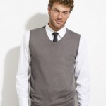 Sols 10591: Men's short sleeve knitted tank top in grey. A quality piece of work knitwear.