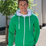 JH053 Zoodie: a new twist on personalised custom leavers hoodies in bright green