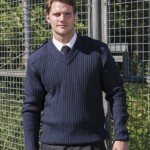 RT22 men's military sweater navy blue. Outdoor knitwear designs for forces or security work.