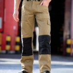 WD012 tan work trousers with knee pads by Dickies