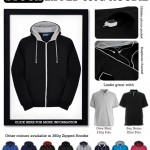 BlackGrey Zipped Hoodie (Zoodie) Warm and robust workwear