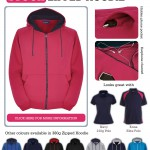 Fuschia pink & navy trimmed zipped hoodie: to brighten a dark Northern work day!
