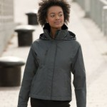 Russell 510f softshell work jacket in grey - women's version