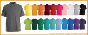 Papini polo shirts range of 21 colours